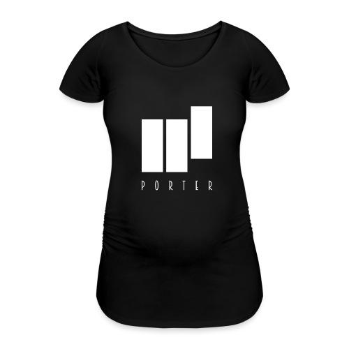 PORTER Sign White - Frauen Schwangerschafts-T-Shirt