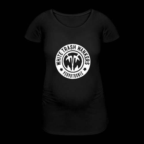 White Trash Wankers Pervotronic-Logo - Frauen Schwangerschafts-T-Shirt