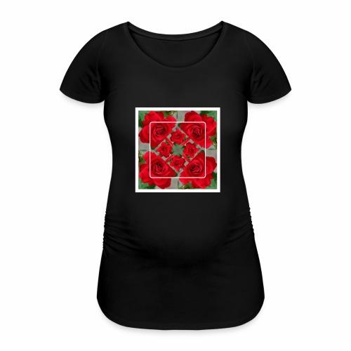 Rose Design - Frauen Schwangerschafts-T-Shirt