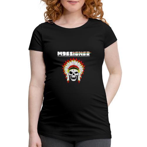 calavera o craneo con penacho de plumas vampiresco - Camiseta premamá