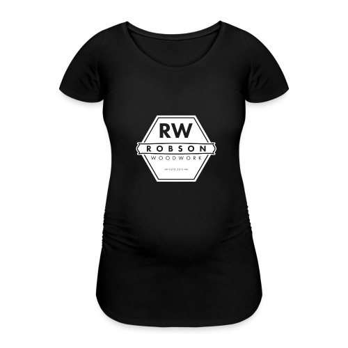 RW Logo In White - Women's Pregnancy T-Shirt