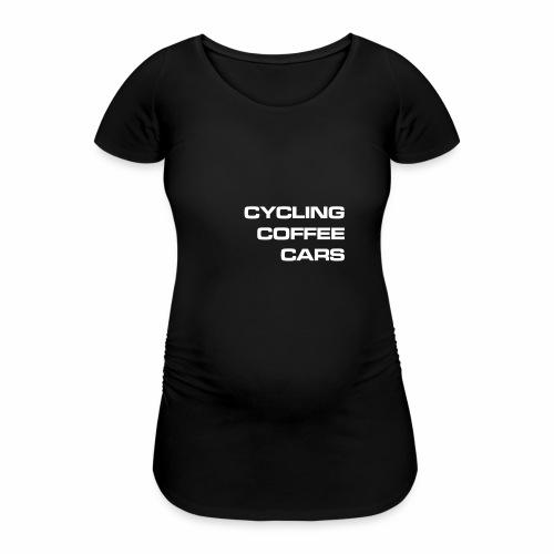 Cycling Cars & Coffee - Women's Pregnancy T-Shirt