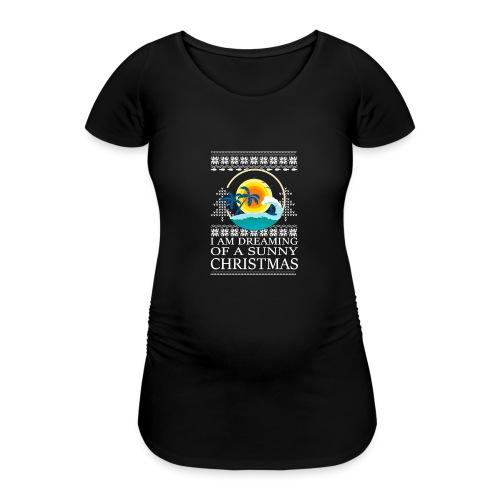 I am dreaming of a sunny Christmas - Vrouwen zwangerschap-T-shirt