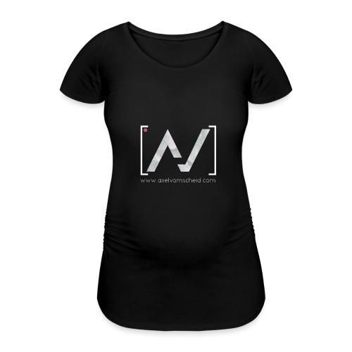 logoalpha blanc - T-shirt de grossesse Femme