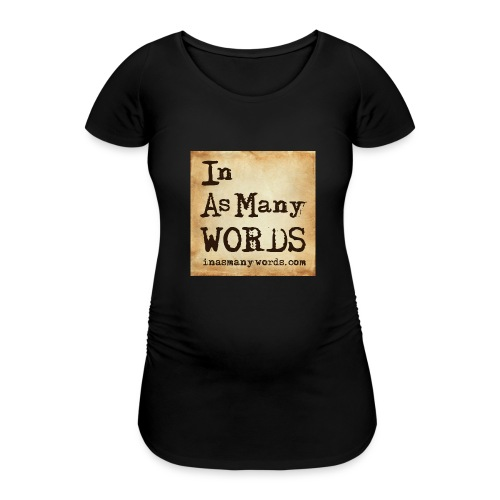 I AM Words LOGO_Brown - Women's Pregnancy T-Shirt