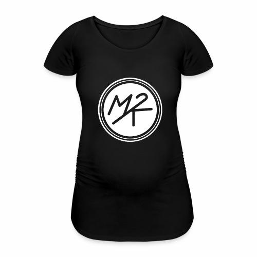 Logo MY2K blanc - T-shirt de grossesse Femme