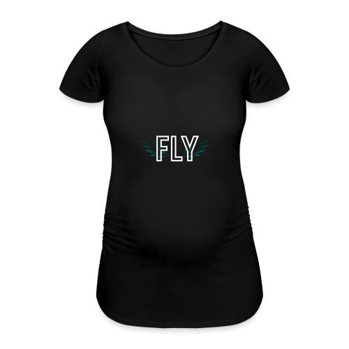 Wings Fly Design - Women's Pregnancy T-Shirt