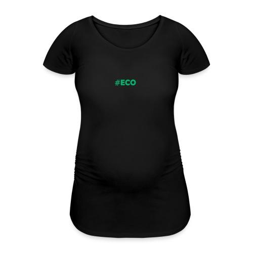 #ECO Blue-Green - Frauen Schwangerschafts-T-Shirt
