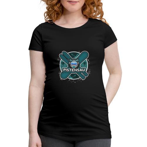 PistenSau Nervenkitzeljägergrün - Frauen Schwangerschafts-T-Shirt