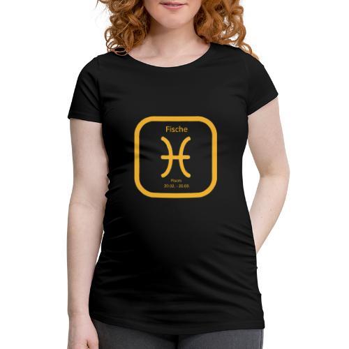 Horoskop Fische12 - Frauen Schwangerschafts-T-Shirt