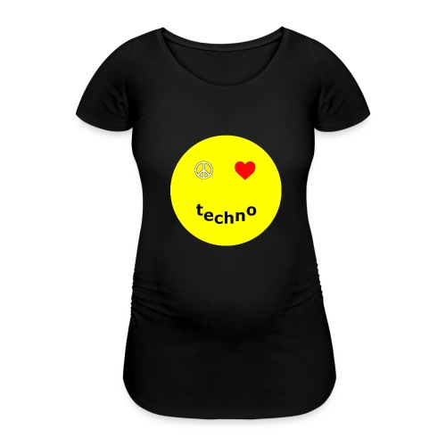 camiseta paz amor techno - Camiseta premamá