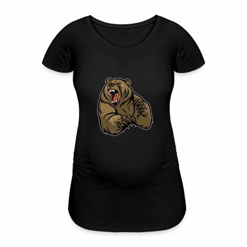 méchant grizzli - T-shirt de grossesse Femme