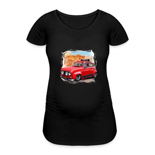 R4 4L prête au départ pour le Raid dans le désert - T-shirt de grossesse Femme