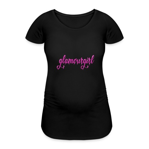 Glamourgirl dripping letters - Vrouwen zwangerschap-T-shirt