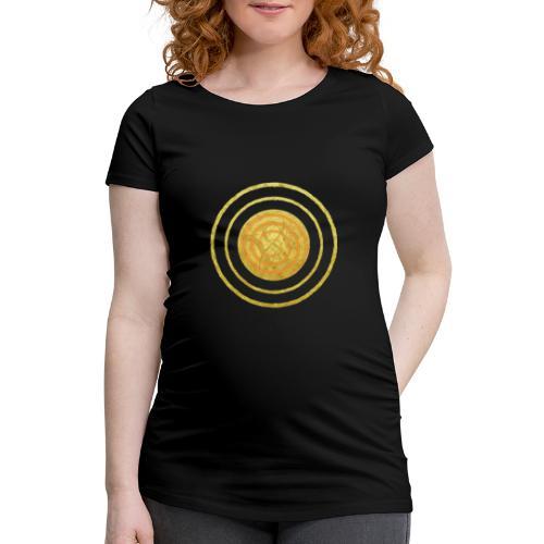 Glückssymbol Sonne - positive Schwingung - Spirale - Frauen Schwangerschafts-T-Shirt