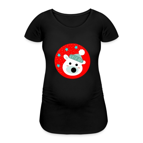 Winter bear - Women's Pregnancy T-Shirt