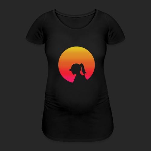 Gradient Girl - Women's Pregnancy T-Shirt