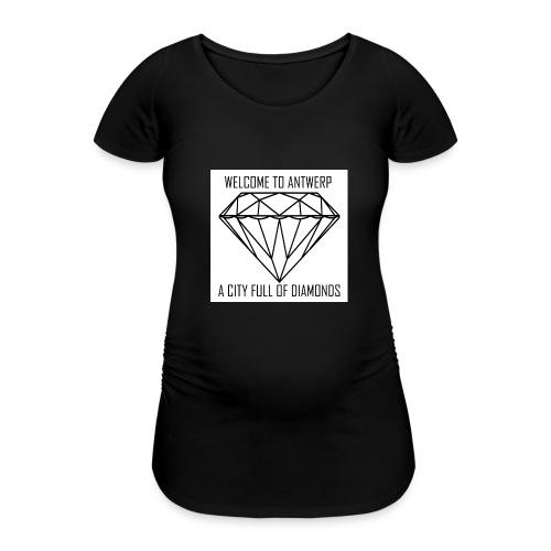 Antwerp lover - Vrouwen zwangerschap-T-shirt