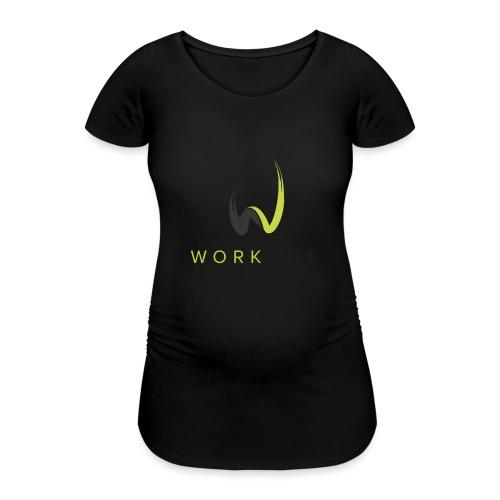 Workout Color mit Url - Frauen Schwangerschafts-T-Shirt