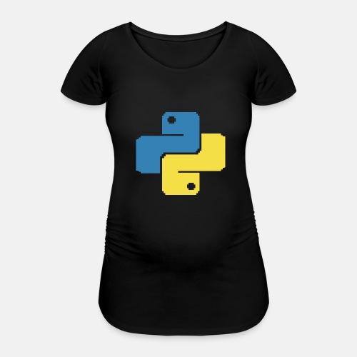 Python Pixelart - Frauen Schwangerschafts-T-Shirt