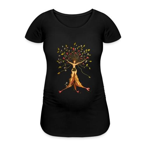 Das Glück - Frauen Schwangerschafts-T-Shirt