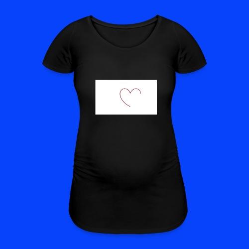 t-shirt bianca con cuore - Maglietta gravidanza da donna