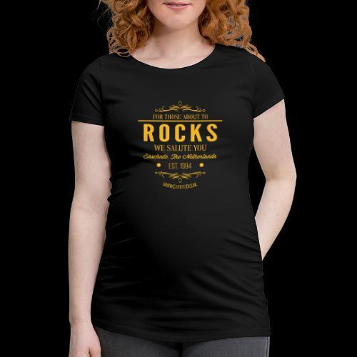Vintage Rocks Label - Vrouwen zwangerschap-T-shirt