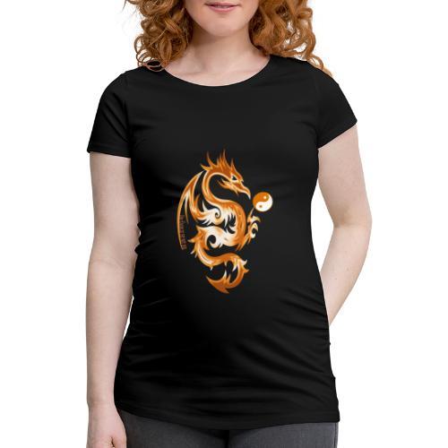Der Drache spielt mit der Energie des Lebens. - Frauen Schwangerschafts-T-Shirt