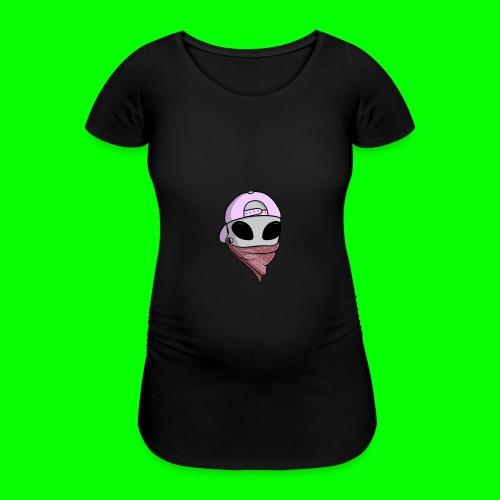 gangsta alien logo - Maglietta gravidanza da donna