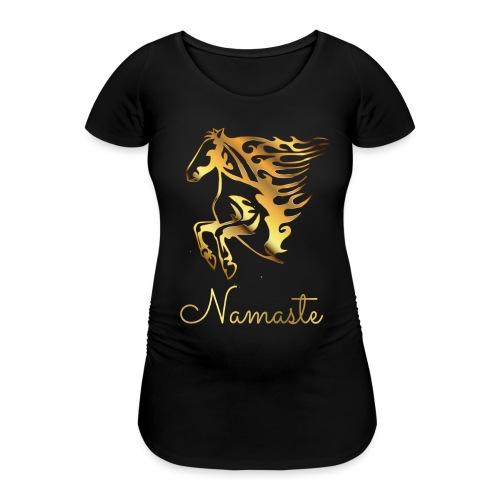 Namaste Horse On Fire - Frauen Schwangerschafts-T-Shirt