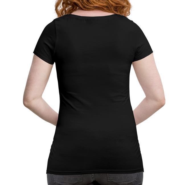 Vorschau: irgendwos hods oiwei - Frauen Schwangerschafts-T-Shirt