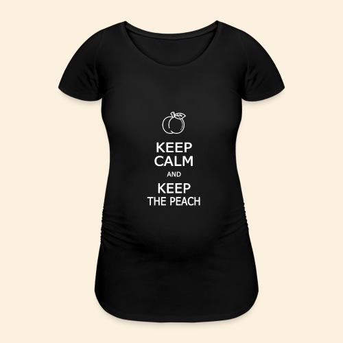 Teddy Keep calm and Keep The Peach - T-shirt de grossesse Femme