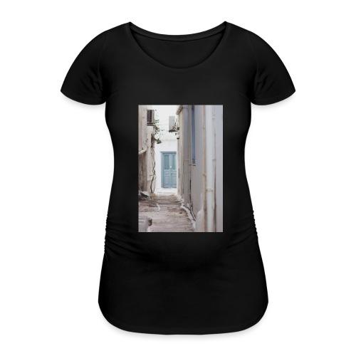 empty street in Mykonos - Koszulka ciążowa