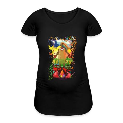 Mother Earth Creating - Vrouwen zwangerschap-T-shirt