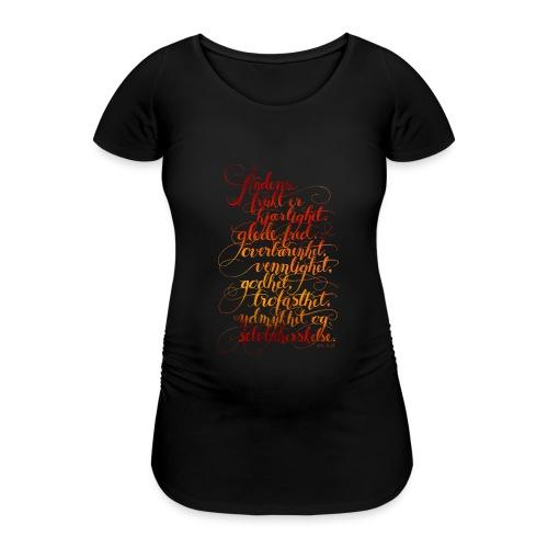 Åndens frukt - T-skjorte for gravide kvinner