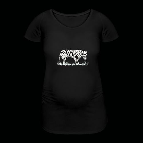 Zebra - Frauen Schwangerschafts-T-Shirt