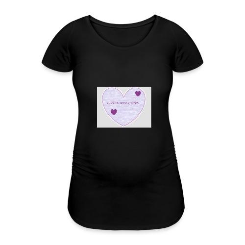 Little_miss_cutie_4 - Vrouwen zwangerschap-T-shirt
