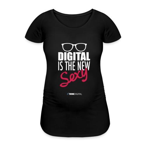 DIGITAL is the New Sexy - Lady - Maglietta gravidanza da donna