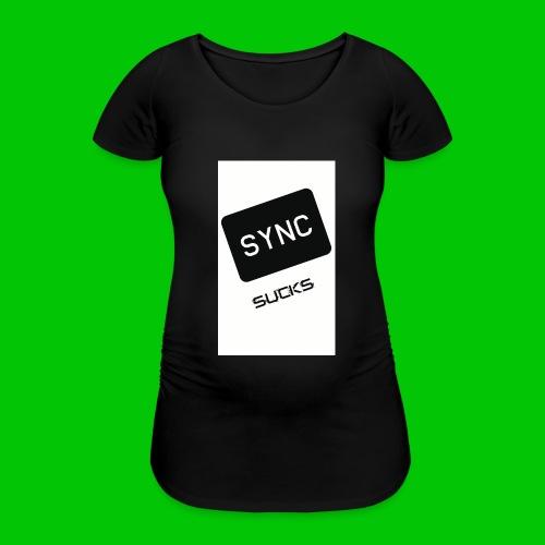 t-shirt-DIETRO_SYNK_SUCKS-jpg - Maglietta gravidanza da donna