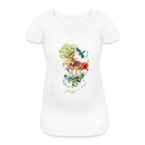 Schattig hertje door Maria Tiqwah - Vrouwen zwangerschap-T-shirt