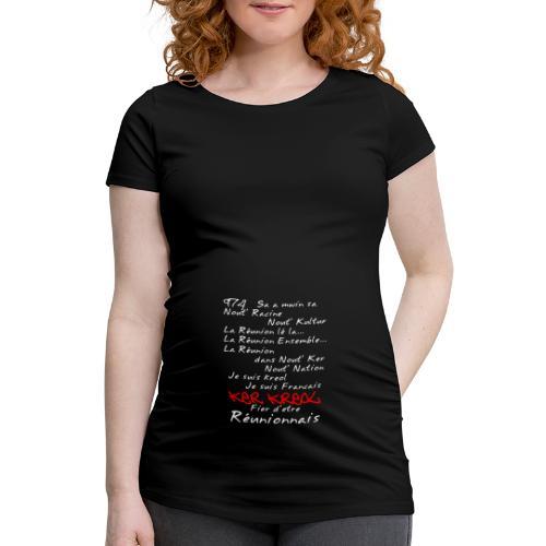 La Réunion Fier D'Être Réunionnais T-Shirt Homme - T-shirt de grossesse Femme