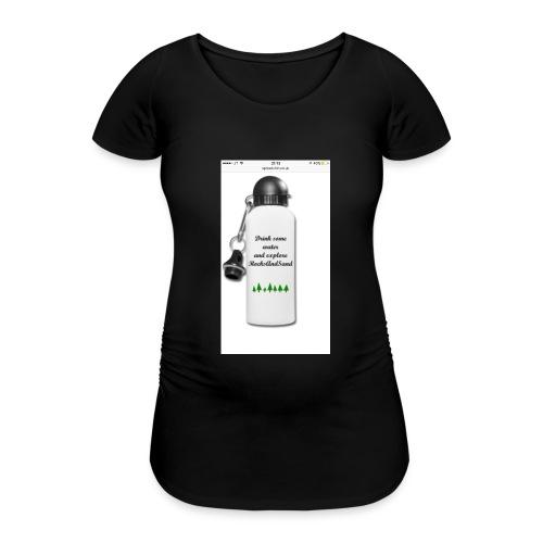 RocksAndSand adventure bottle - Women's Pregnancy T-Shirt