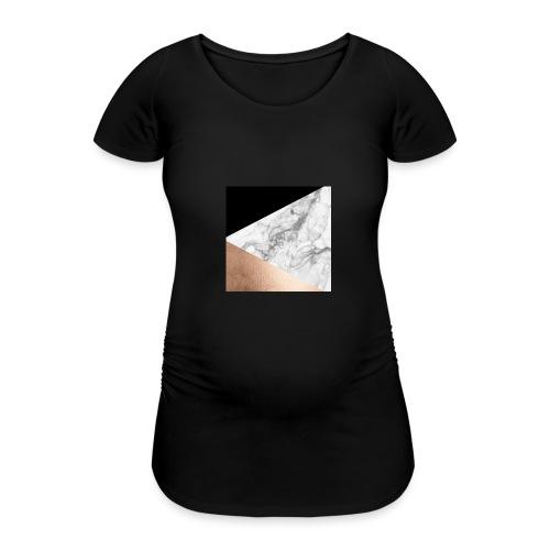 Marmor handyhülle - Frauen Schwangerschafts-T-Shirt