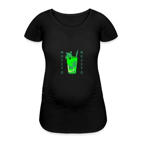 Mojito bicchiere colorato - Maglietta gravidanza da donna
