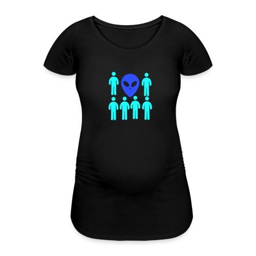 Extraterestre y Humano - Camiseta premamá