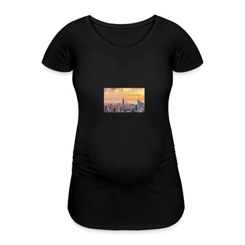 new york mok - Vrouwen zwangerschap-T-shirt