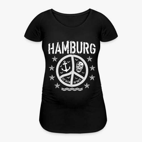 105 Hamburg Peace Anker Seil Koordinaten - Frauen Schwangerschafts-T-Shirt