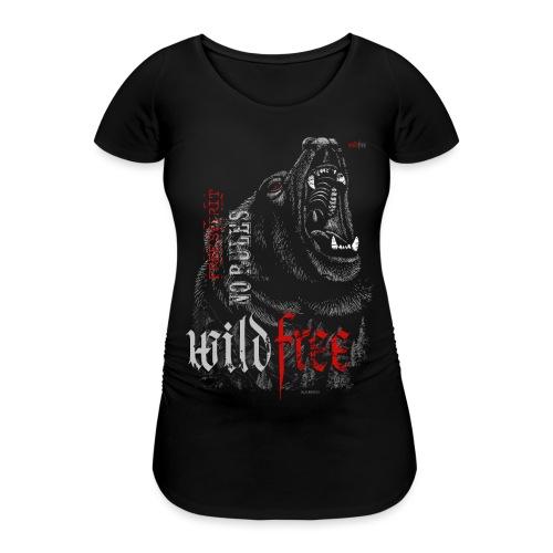 WILDFREE   BEAR - Frauen Schwangerschafts-T-Shirt