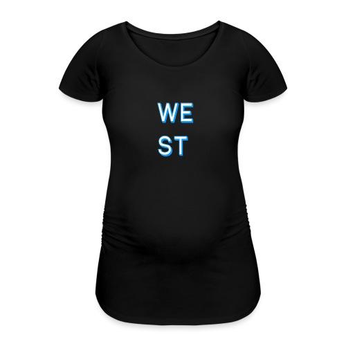 WEST LOGO - Maglietta gravidanza da donna