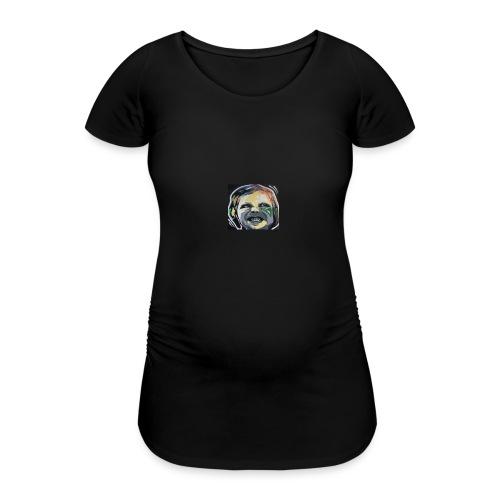 face - Frauen Schwangerschafts-T-Shirt